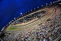 May 2, 2009; Richmond, VA, USA; Overall view as NASCAR Sprint Cup Series drivers race during the Russ Friedman 400 at the Richmond International Raceway. Mandatory Credit: Mark J. Rebilas-