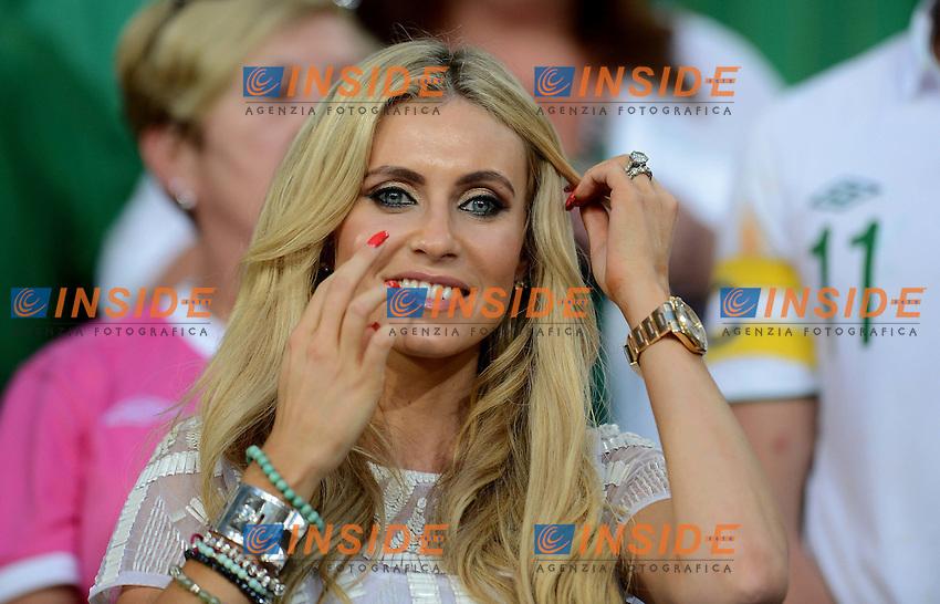 "Claudine Palmer, Moglie di Robbie KEANE (Irlanda).Poznan 18/06/2012  """"Stadion Miejski"".Football calcio Europeo 2012 Italia Vs Irlanda.Football Calcio Euro 2012.Foto Insidefoto Alessandro Sabattini..."