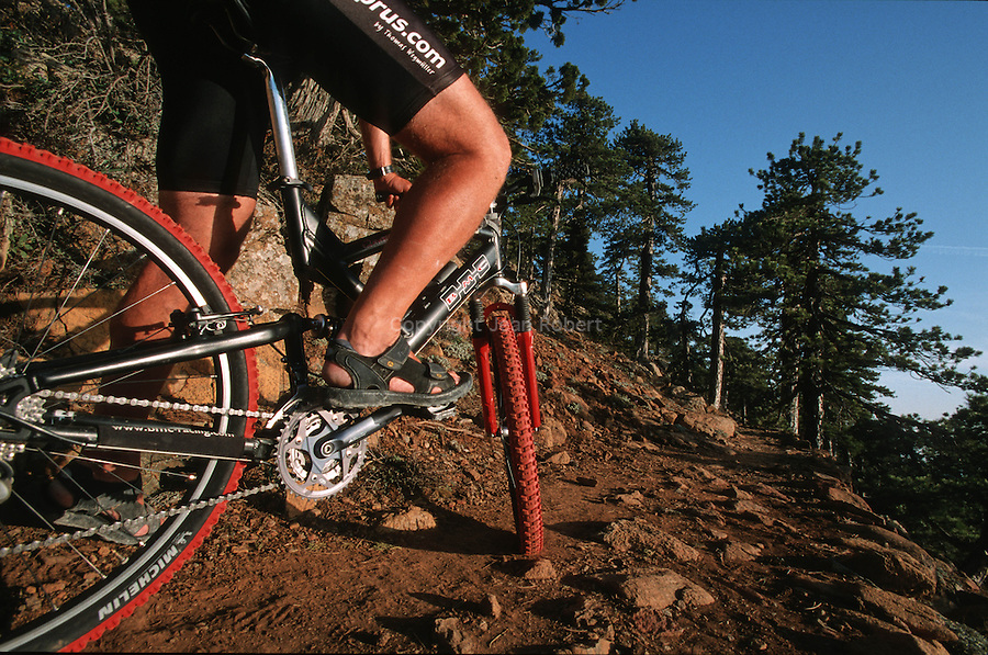 Biking in the Troodos mountains and foothills.Artemis trail takes you around the summit of Mt olympus.