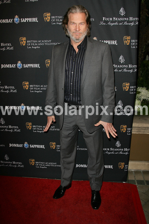 **ALL ROUND PICTURES FROM SOLARPIX.COM**                                             **SYNDICATION RIGHTS FOR UK, AUSTRALIA, DENMARK, PORTUGAL, S. AFRICA, SPAIN & DUBAI (U.A.E) & ASIA (EXCLUDING JAPAN) ONLY**                                                                                   2011 BAFTA Los Angeles Award Season Tea Party arrivals at Four Seasons Hotel Los Angeles, USA.                                                                         This pic:   Jeff Bridges                                                                                   JOB REF:    12670  PHZ/Charlotte       DATE: 15.01.11                                                       **MUST CREDIT SOLARPIX.COM OR DOUBLE FEE WILL BE CHARGED**                                                                      **MUST AGREE FEE BEFORE ONLINE USAGE**                               **CALL US ON: +34 952 811 768 or LOW RATE FROM UK 0844 617 7637**