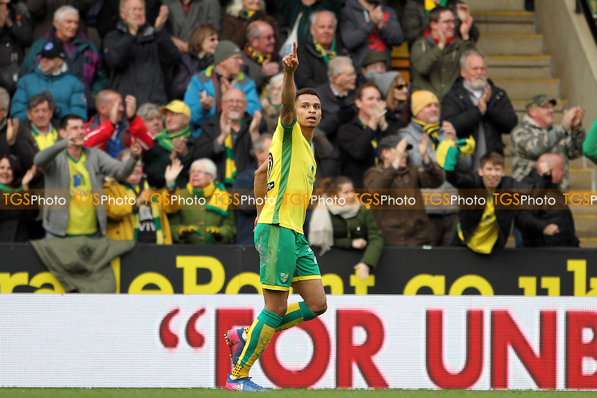 Jacob Murphy of Norwich City celebrates his goal and putting Norwich back on level terms during Norwich City vs Ipswich Town, Sky Bet EFL Championship Football at Carrow Road on 26th February 2017