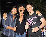 Actor Keith Collins (L) poses with Randy Jones (Village People) and husband Will Grega celebrate their marriage (this morning September 13, 2013) with a celebration at the 13th Annual Kings & Cowboys at DL in New York City, New York. Randy is also celebrating his birthday.  (Photo by Sue Coflin/Max Photos)