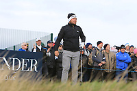 Tyrrell Hatton (ENG) on the 17th tee during round 4 of the Alfred Dunhill Links Championship, Old Course St. Andrew's, Carnoustie and Kingsbarns, Fife, Scotland. 07/10/2018.<br />