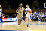 DURHAM, NC - FEBRUARY 01: Georgia Tech's Chanin Scott. The Duke University Blue Devils hosted the Georgia Tech University Yellow Jackets on February 1, 2018 at Cameron Indoor Stadium in Durham, NC in a Division I women's college basketball game. Duke won the game 77-59.