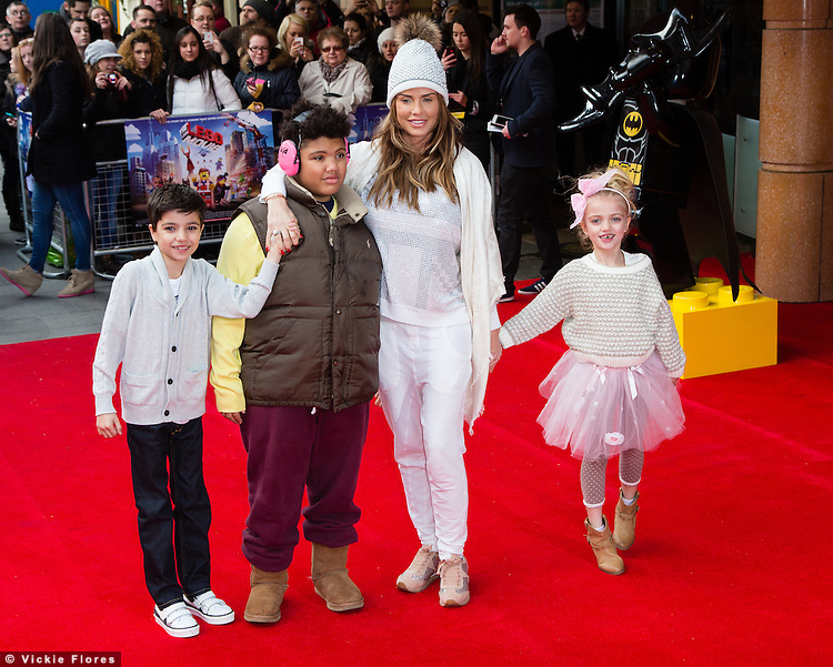 Katie Price and family attend the UK Premiere of The Lego Movie at the Vue West End in Leicester Square, London on February 9th, 2014.