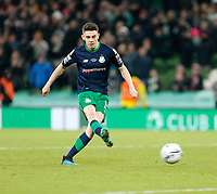 3rd November 2019; Aviva Stadium, Dublin, Leinster, Ireland; FAI Cup Final Football, Dundalk Football Club versus Shamrock Rovers; Gary O'Neill scores the winning penalty for Shamrock Rovers in the after-game penalty shoot-out - Editorial Use
