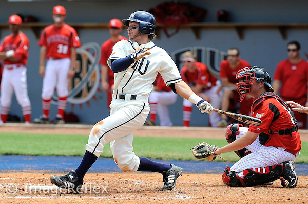 4 April 2010:  FIU's Garrett Wittels (10) bats in the second inning as the FIU Golden Panthers defeated the Louisiana-Lafayette Rajun Cajuns, 15-6, at University Park Stadium in Miami, Florida.