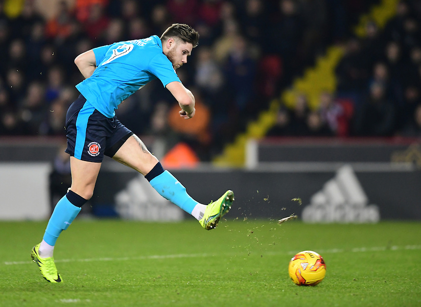 Fleetwood Town's Wes Burns<br /> <br /> Photographer Chris Vaughan/CameraSport<br /> <br /> The EFL Sky Bet League One - Sheffield United v Fleetwood Town - Tuesday 24th January 2017 - Bramall Lane - Sheffield<br /> <br /> World Copyright &copy; 2017 CameraSport. All rights reserved. 43 Linden Ave. Countesthorpe. Leicester. England. LE8 5PG - Tel: +44 (0) 116 277 4147 - admin@camerasport.com - www.camerasport.com