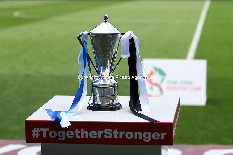 The FAW Youth Cup before match between Swansea City and Cambrian and Clydach at The Cardiff City Stadium, Cardiff, Wales, UK. Sunday 23 April 2017