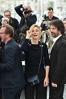 CANNES, FRANCE - MAY 14: Julie Gayet, William Jehannin at the photocall for the 'The State Against Mandela' during the 71st annual Cannes Film Festival at Palais des Festivals on May 14, 2018 in Cannes, France. <br /> CAP/PL<br /> &copy;Phil Loftus/Capital Pictures