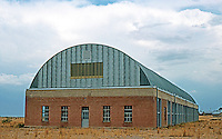 Marfa:  South Artillery Shed, Chinati Foundation. Houses permanent works by Judd. Photo '96.