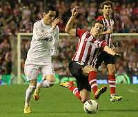 02.05.2012 SPAIN -  La Liga matchday 20th  match played between Athletic de Bilbao vs Real Madrid (0-3) at San Mames stadium, Real Madrid was proclaimed as champion of the League for 32nd time. The picture show Jose Maria Callejon (Spanish midfielder of Real Madrid)