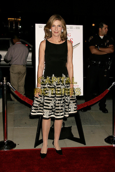 "JILL CLAYBURGH.""Running with Scissors"" World Premiere held at the Academy of Motion Pictures Arts and Sciences, Beverly Hills, California, USA..October 10th, 2006.Ref: ADM/RE.full length black top dress stripes striped skirt pattern.www.capitalpictures.com.sales@capitalpictures.com.©Russ Elliot/AdMedia/Capital Pictures."