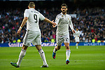 Real Madrid´s  and Deportivo de la Coruna's  during 2014-15 La Liga match between Real Madrid and Deportivo de la Coruna at Santiago Bernabeu stadium in Madrid, Spain. February 14, 2015. (ALTERPHOTOS/Luis Fernandez)