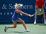Ursula Radwanska (POL) loses at the Western and Southern Financial Group Masters Series in Cincinnati on August 16, 2012
