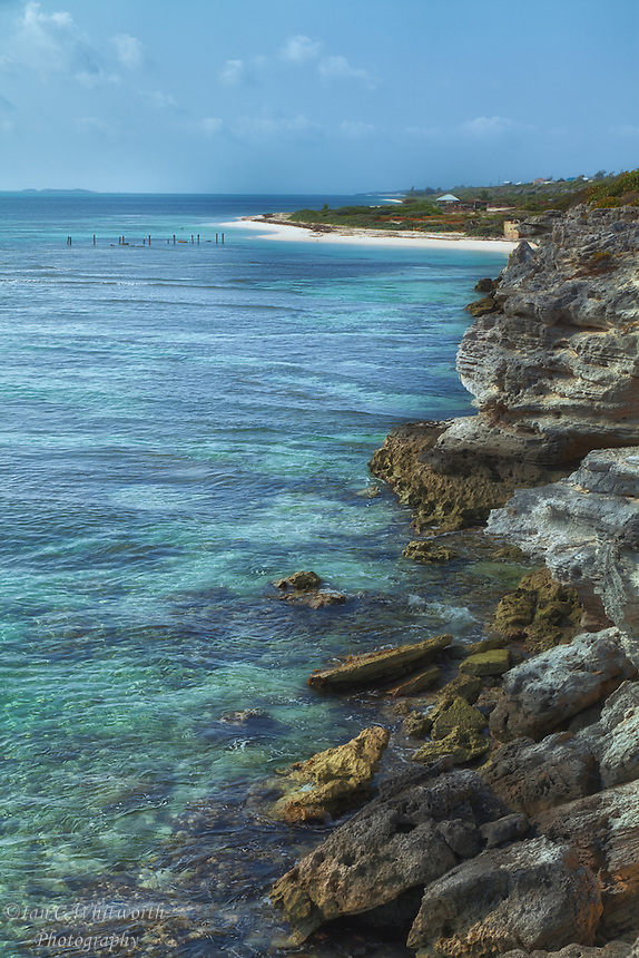 Looking along the northern coastline of Grand Turk.
