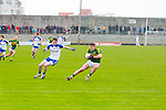 Kerry's Paul Geaney and Monaghan's Dessie Mone in the Allianz Football League Kerry V Monaghan at Austin Stack Park on Sunday