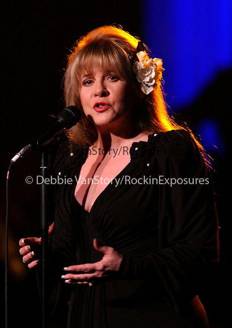 Stevie Nicks performs live at the Stormy Weather Benefit Concert held at The Wiltern Theatre on November 13,2002.Photo by RockinExposures