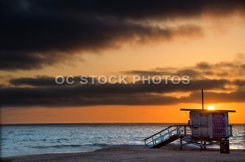 Sunset Over the Coast of Manhattan Beach