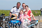 ENTUASTIST: Entuastist motor bike lovers having a good look over at one of the custom made bikes which were at Hoppers Causeway on Sunday they were, Emily, Molly, Ann Marie and Brendan Sheehan and Thomas O'Rourke (Ballyduff)..
