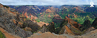 Waimea canyon, panoramic view (Licence this image exclusively with Getty: http://www.gettyimages.com/detail/84430554 )
