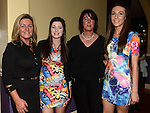 Jacqueline and Ciara Byrne and Joan and Aideen Dunne pictured at St Annes Camogie Club annual dinner in the Grove Hotel Dunleer. Photo:Colin Bell/pressphotos.ie
