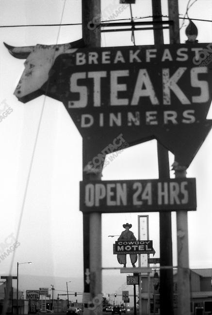 "Route 66:  ""Steaks"", Amarillo, TX.."