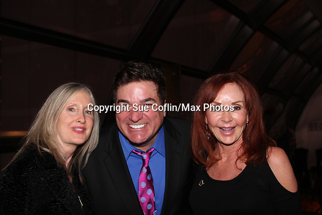 """General Hospital Jacklyn Zeman """"Bobbie Spencer"""" poses with her sister Carol and Dale Badway. Jackie  is honorary chair of The 29th Annual Jane Elissa Extravaganza which benefits The Jane Elissa Charitable Fund for Leukemia & Lymphoma Cancer, Broadway Cares and other charities on November 14, 2016 at the New York Marriott Hotel, New York City presented by Bridgehampton National Bank and Walgreens.  (Photo by Sue Coflin/Max Photos)"""