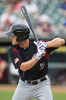 Sacramento River Cats outfielder Nick Buss (11) at bat during the Pacific Coast League baseball game against the Round Rock Express on June 19, 2014 at the Dell Diamond in Round Rock, Texas. The Express defeated the River Cats 7-1. (Andrew Woolley/Four Seam Images)