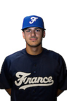 18 September 2012: Maxime Lefevre poses prior to Team France practice, at the 2012 World Baseball Classic Qualifier round, in Jupiter, Florida, USA.