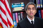 Vivek Murthy, United States surgeon general, speaks while participating in a roundtable discussion on the impacts of climate change on public health at Howard University with U.S. President Barack Obama, not pictured, in Washington, D.C., U.S., on Tuesday, April 7, 2015. The President is warning that climate change will start affecting Americans' health in the near future and he is recruiting top technology companies to help prepare the nation's health systems.<br /> Credit: Andrew Harrer / Pool via CNP