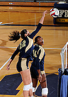 Florida International University women's volleyball player Sabrina Gonzalez (12) plays against Tulane University.  FIU won the match 3-2 on September 9, 2011 at Miami, Florida. .