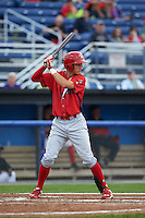 Williamsport Crosscutters outfielder Carlos Duran (13) at bat during a game against the Batavia Muckdogs on August 29, 2015 at Dwyer Stadium in Batavia, New York.  Williamsport defeated Batavia 7-3.  (Mike Janes/Four Seam Images)
