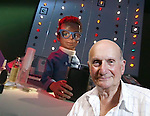 Gerry Anderson, creator of  the TV series Thunderbirds and Stingray at the Wootton talks.