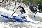 28th September 2019; Canal Olimpic del Segre, La Seu d'Urgell, Catalonia, Spain; ICF Canoe Slalom, World Championships, MC1 Men's Canoe canoe. Picture show Takuya Hanea (JPN) in action