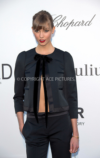 WWW.ACEPIXS.COM....US Sales Only....May 23 2013, New York City....Karlie Kloss at amfAR's Cinema Against AIDS Gala at the Hotel du Cap Eden Roc during the Cannes Film Festival on May 23 2013 in France....By Line: Famous/ACE Pictures......ACE Pictures, Inc...tel: 646 769 0430..Email: info@acepixs.com..www.acepixs.com