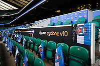 A general view of Dyson branding in and around the stadium. The Clash, Aviva Premiership match, between Bath Rugby and Leicester Tigers on April 7, 2018 at Twickenham Stadium in London, England. Photo by: Patrick Khachfe / Onside Images