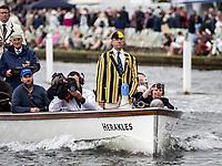 Henley Royal Regatta, Henley on Thames, Oxfordshire, 28 June - 2 July 2017.  Wednesday  15:08:58   28/06/2017  [Mandatory Credit/Intersport Images]<br /> <br /> Rowing, Henley Reach, Henley Royal Regatta.<br /> <br /> J G Hedger, Esq. Umpire