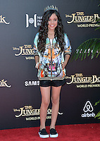 LOS ANGELES, CA. April 4, 2016. Actress Jenna Ortega at the world premiere of &quot;The Jungle Book&quot; at the El Capitan Theatre, Hollywood.<br /> Picture: Paul Smith / Featureflash