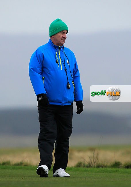 Michael Evans (G.U.I Referee) during the Stroke Play Round 1 of the West of Ireland Amateur Open Championship at the Co. Sligo Golf Club in Rosses Point on Friday 25th March 2016.<br /> Picture:  Golffile / Thos Caffrey