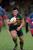 Pukekohe prop S. Tualaulelei. Counties Manukau Premier Club Rugby, Pukekohe v Ardmore Marist played at the Colin Lawrie field, on the 27th of May 2006.Ardmore Marist won 22 - 6