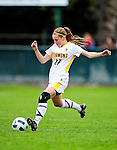 14 October 2010: University of Vermont Catamount midfielder Sarah Coggins, a Sophomore from Cohasset, MA, in action against the University of Hartford Hawks at Centennial Field in Burlington, Vermont. The Hawks defeated the Lady Cats 6-2 in America East play. Mandatory Credit: Ed Wolfstein Photo