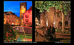 France, Alsace.  <br /> I was determined to use my tripod after carrying it all day. Now I debate whether to even pack it. So far the tripod is winning, but just barely. Maybe a selfie stick? John and Beth in Eguisheim.