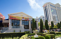 LAS VEGAS, NV - April 28, 2017: ***HOUSE COVERAGE*** Banner heralds upcoming Location for Hell's Kithchen Restaurant pictured as  Chef Gordon Ramsay announces the world's first Hell's Kitchen Restaurant at Caesars Palace in Las vegas, NV on April 28, 2017. Credit: Erik Kabik Photography/ MediaPunch