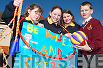 BE WISE AND EXERCISE: Childern from the Rock Street Caherslee Community Games are organising a fun activity event today (Thursday) in Mercy Mounthawk Sports Hall. From l-r were: Hannah Ryan, Katie Liston, Hazel Carmody and Michael Mullins..