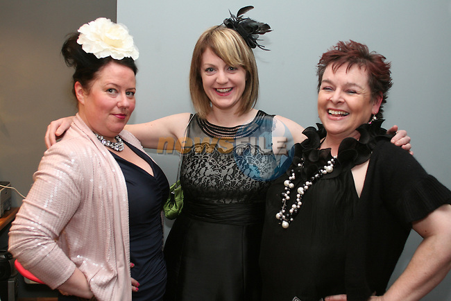 Nicola McComeskey, Rose O'Brien and Marcella Bannon at the Burlesque Show in the Droichead Arts Centre...Photo NEWSFILE/Jenny Matthews.(Photo credit should read Jenny Matthews/NEWSFILE)....This Picture has been sent you under the condtions enclosed by:.Newsfile Ltd..The Studio,.Millmount Abbey,.Drogheda,.Co Meath..Ireland..Tel: +353(0)41-9871240.Fax: +353(0)41-9871260.GSM: +353(0)86-2500958.email: pictures@newsfile.ie.www.newsfile.ie.FTP: 193.120.102.198.