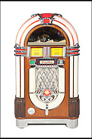 BNPS.co.uk (01202 558833)<br /> Pic: Juliens/BNPS<br /> <br /> ***Please use full byline***<br /> <br /> Hasselhoff's jukebox. A Wurlitzer 1015-CD One More Time vintage jukebox with David Hasselhoff&rsquo;s albums and personally selected songs.<br /> <br /> The futuristic talking sportscar driven by TV legend David Hasselhoff in cult show Knight Rider is among a &pound;100,000 archive of the star's possessions up for sale.<br /> <br /> Hasselhoff has also put his iconic red lifeguard jacket from hit programme Baywatch on the market alongside a bizarre, oversized statue of himself.<br /> <br /> The actor, known as The Hoff, shot to fame in 1982 in Knight Rider as crime fighter Michael Knight.<br /> <br /> Knight's partner was an artificially intelligent supercar called Knight Industries Two Thousand - or KITT for short.