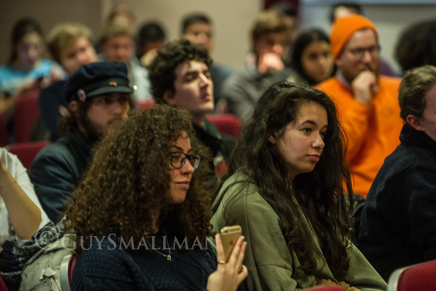 Teach Out organised by UCL UCU during the strike on the theme of racism. Speakers included former NUJ President Malia Bouattia and rapper Low Key. London 23-2-18