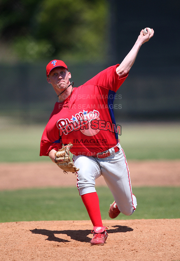 April 1, 2010:  Pitcher Jason Salers of the Philadelphia Phillies organization during Spring Training at the Carpenter Complex in Clearwater, FL.  Photo By Mike Janes/Four Seam Images
