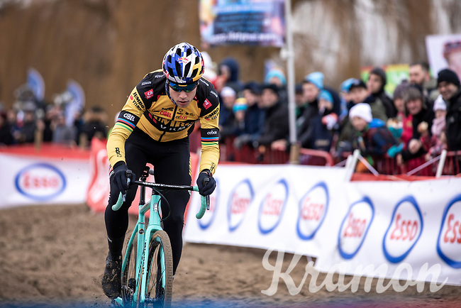 Wout Van Aert (BEL/Jumbo-Visma) pre race recon. <br /> <br /> Elite Men's Race <br /> Belgian National CX Championships<br /> Antwerp 2020